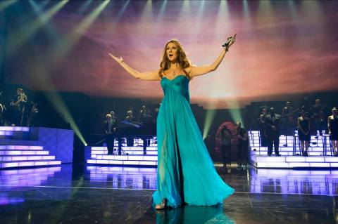 """Celine Dion performs """"My Heart Will Go On"""" at The Colosseum at Caesars Palace in March 2011 in ..."""