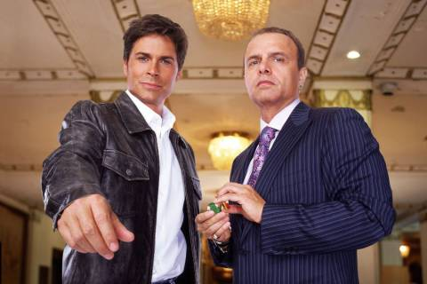 Rob Lowe, left, played Dr. Billy Grant, an unconventional physician who becomes the in-house do ...