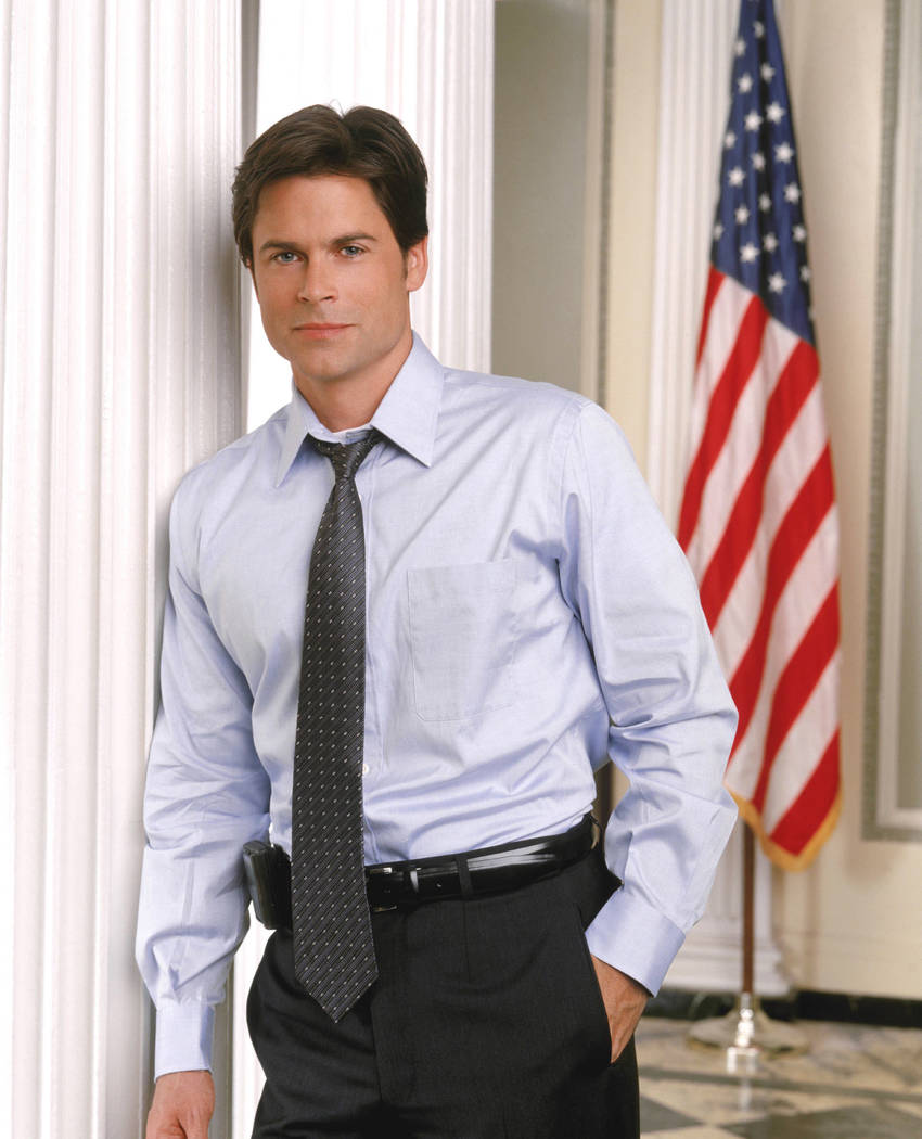 """Rob Lowe as Deputy Communications Director Sam Seaborn in """"The West Wing."""" (David Rose/AP)"""