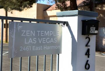ZEN Temple at 2461 E. Harmon Avenue is seen on Friday, March, 29, 2019, in Las Vegas. (Bizuayeh ...
