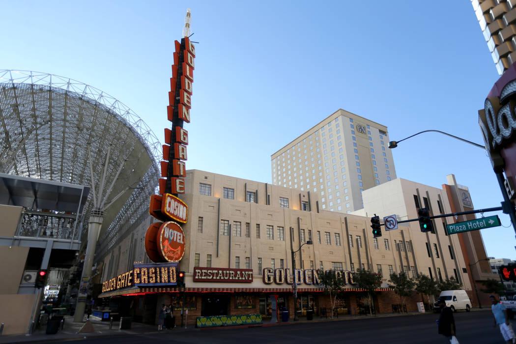 Golden Gate in downtown Las Vegas Thursday, Oct. 4, 2018. K.M. Cannon Las Vegas Review-Journal ...