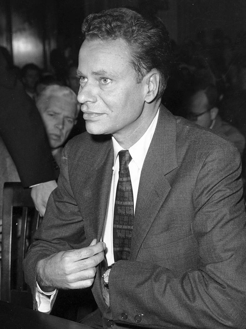 FILE - In this Nov. 2, 1959 file photo, Charles Van Doren sits as a witness before Congress in ...