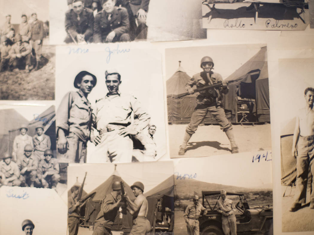 "Photos of Onofrio ""No-No"" Zicari and other soldiers at his home in Las Vegas, Thursda ..."