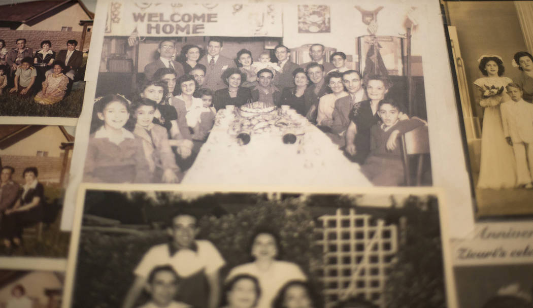 "A photo of Onofrio ""No-No"" Zicari, center in front of the cake, at his party upon his ..."