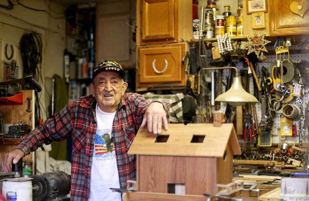 "Onofrio ""No-No"" Zicari, 96 at his home in Las Vegas, Thursday, April 11, 2019. Zicari ..."
