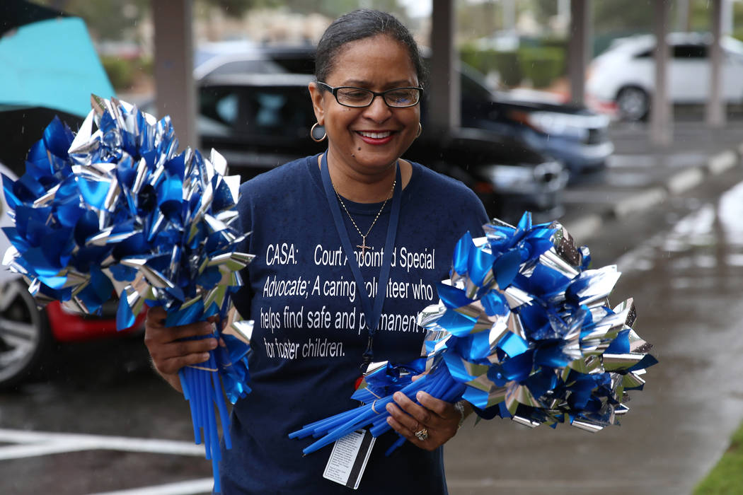 Sheila Parks, program coordinator for Court Appointed Special Advocates, also know as CASA, hol ...