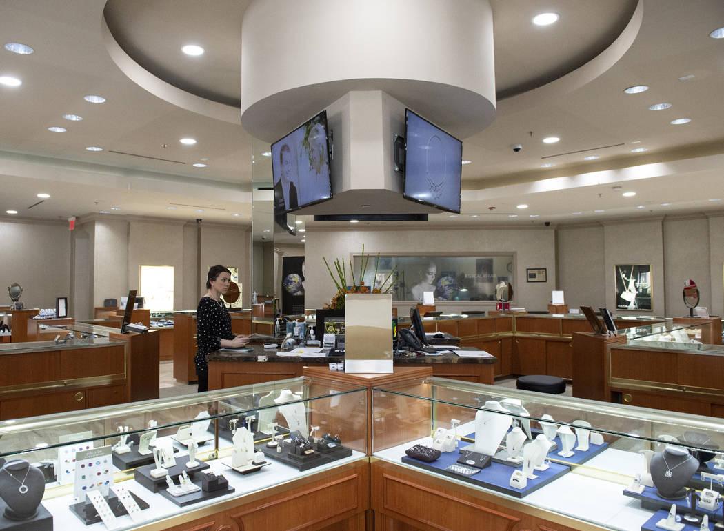 Inside the MJ Christensen Diamonds store in Las Vegas, Thursday, April 4, 2019. (Caroline Brehm ...