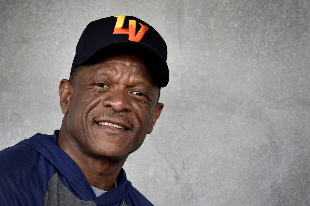 Retired Major League baseball player and now special coach for the Las Vegas Aviators Rickey He ...