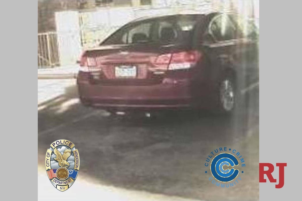 A red 2011 Subaru Legacy bearing Nevada plate 263G63 is missing from a deceased 55-year-old mal ...