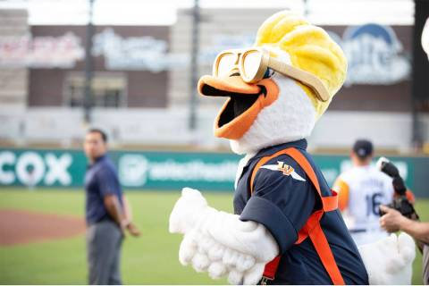 Spruce is one of two new mascots for the Las Vegas Aviators. (The Howard Hughes Corp.)