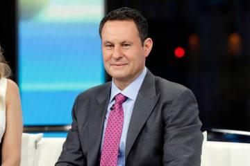"FILE - This Jan. 17, 2018 file photo shows co-host Brian Kilmeade on the set of ""Fox & ..."