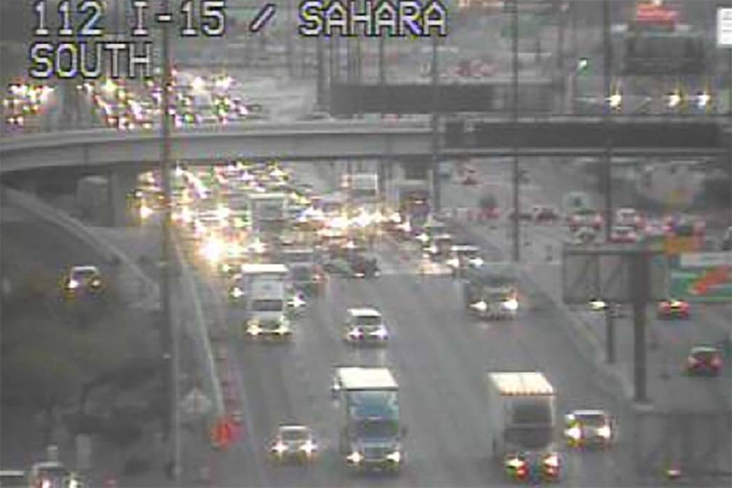All lanes reopen after rollover crash on I-15 near Sahara
