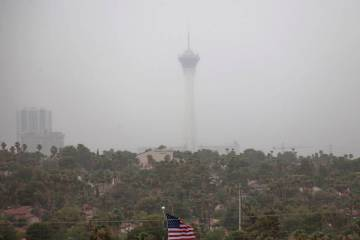 Windy weather causing blowing dust can put Las Vegas Valley residents at risk of contracting Va ...
