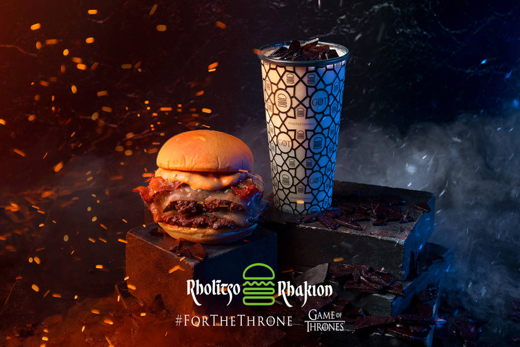 """Shake Shack's """"Dragonglass Shake"""" and """"Dracarys Burger"""" in celebration of """"Game of Thrones."""" (S ..."""