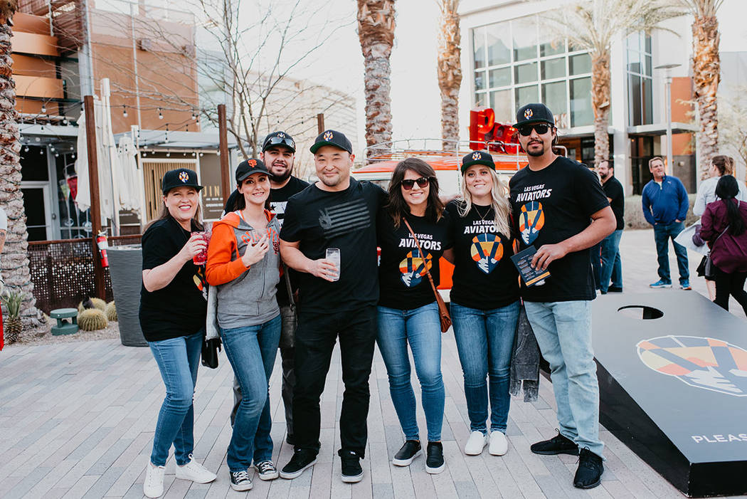 The Howard Hughes Corp. Las Vegans showed up in full force to support the Aviators and the open ...