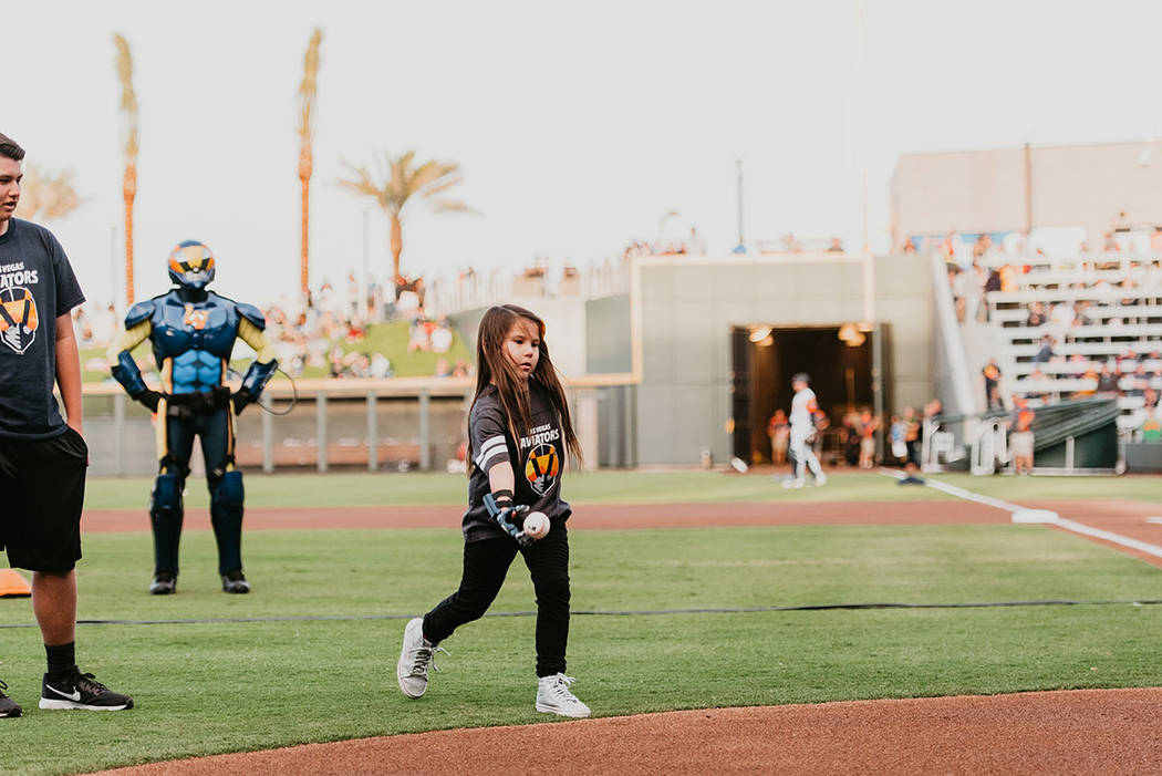 The Howard Hughes Corp. The season opener included a first pitch from Hailey Dawson, a celebrat ...
