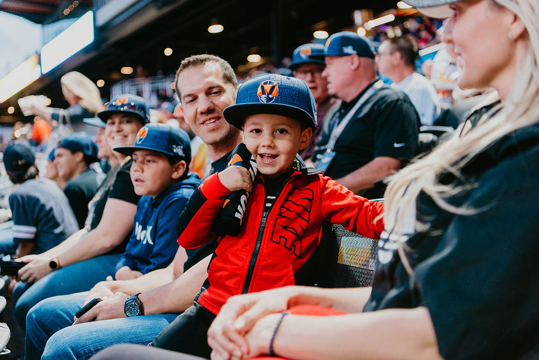 Fans watch the game at the April 9 season opener of the Las Vegas Aviators. (The Howard Hughes ...