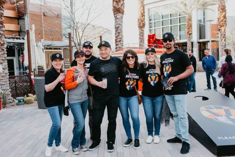 Las Vegans showed up in full force to support the Aviators and the opening of the Las Vegas Bal ...