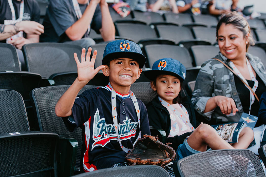 Fans of all ages showed up to cheer the Aviators, who celebrated a new name in a new home. (The ...