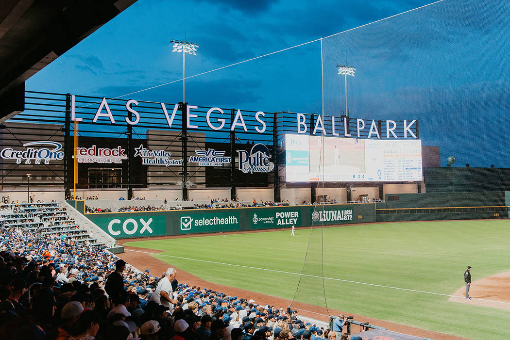 The Las Vegas Ballpark opened in Downtown Summerlin at the April 9 season opener of the Las Veg ...