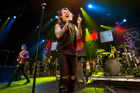 Falling in Reverse performs at Vans Warped Tour at the Hard Rock Hotel and Casino on Friday, Ju ...