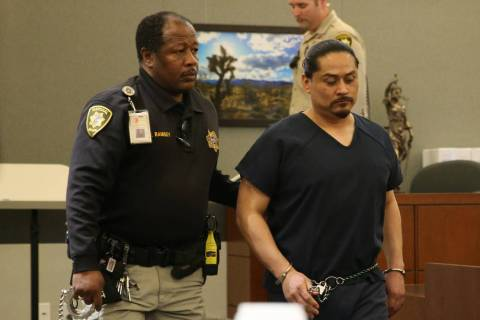 Antonio Macedo is escorted out of the courtroom following his sentencing hearing at the Regiona ...