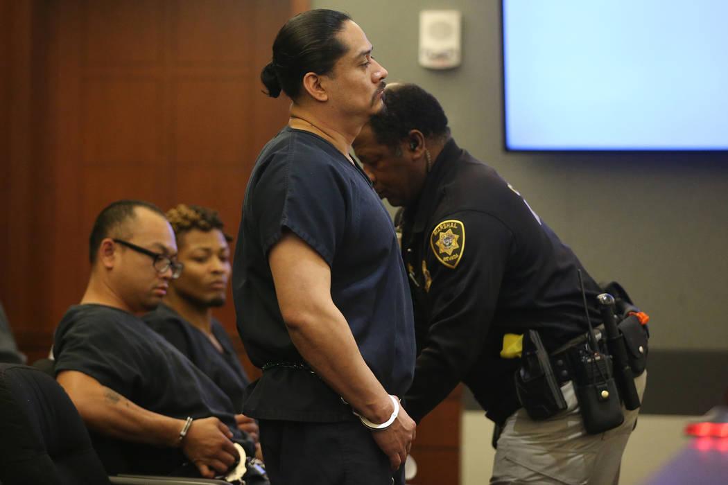 Antonio Macedo during his sentencing hearing at the Regional Justice Center in Las Vegas, Thurs ...