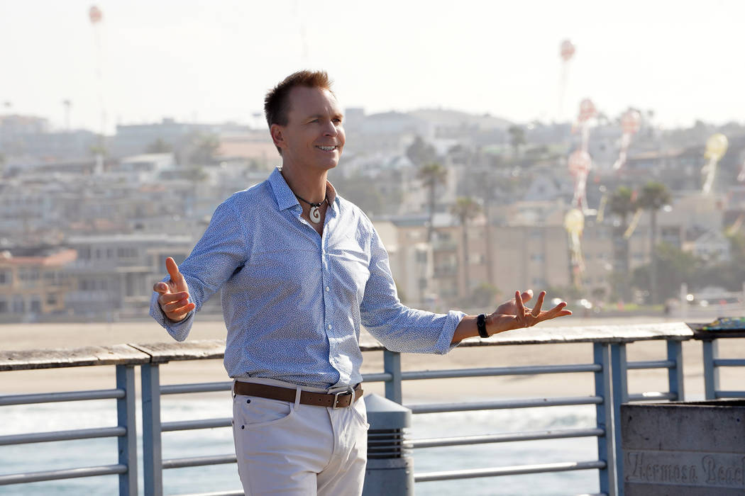 Host Phil Keohgan at the starting line in Los Angeles, California on THE AMAZING RACE Wednesday ...