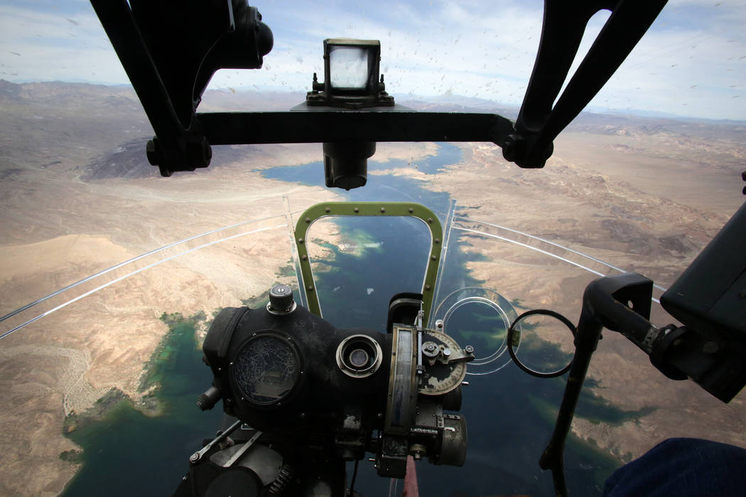 Bombardier's view from the nose of a B-17 Flying Fortress, part of the Wings of Freedom ...
