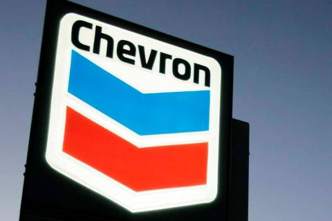 A Chevron gas station service sign on July 25, 2007, in Menlo Park, Calif. Chevron is buying A ...