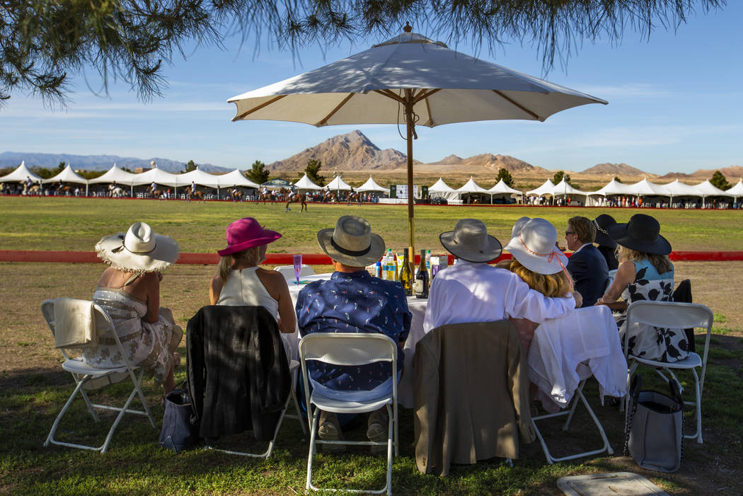 Guests enjoy watching the match during the Las Vegas Polo Classic at Star Nursery Field on Satu ...