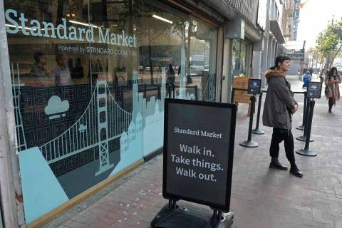 The Standard Cognition cashier-less store on Market Street in San Francisco on Nov. 14, 2018. A ...