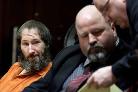Johnny Bobbitt, left, looks on as his attorney John Keesler and Assistant Prosecutor Andrew McD ...