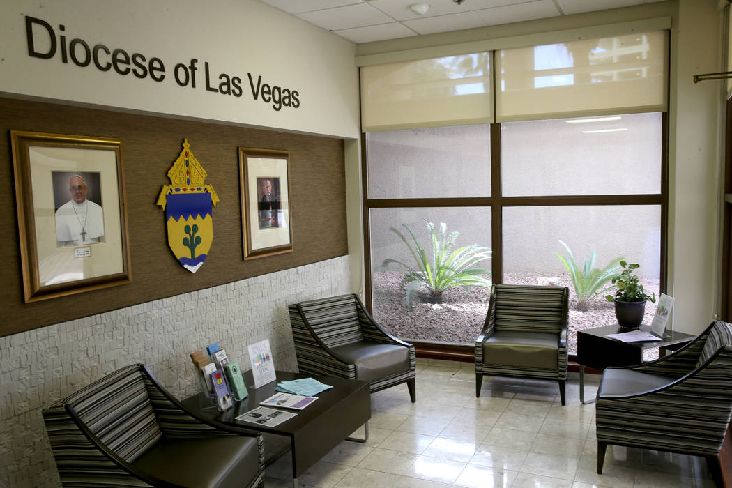 The Catholic Diocese of Las Vegas Friday, April 12, 2019. (K.M. Cannon/Las Vegas Review-Journal ...