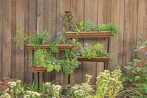 Gutter gardens are popular these days, but the gutters become very heavy once they're filled wi ...