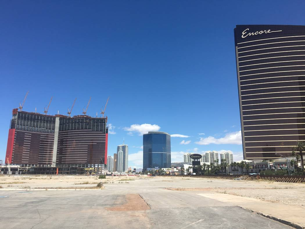 The former New Frontier site, now owned by Wynn Resorts, is seen on the Las Vegas Strip on Wedn ...
