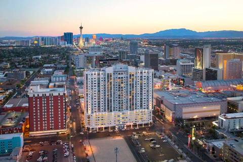 The Ogden, a 21-story condominium tower in the heart of downtown Las Vegas, has fewer than 40 c ...