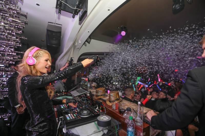 Paris Hilton DJ's and sings at Hyde Bellagio. (Courtesy)