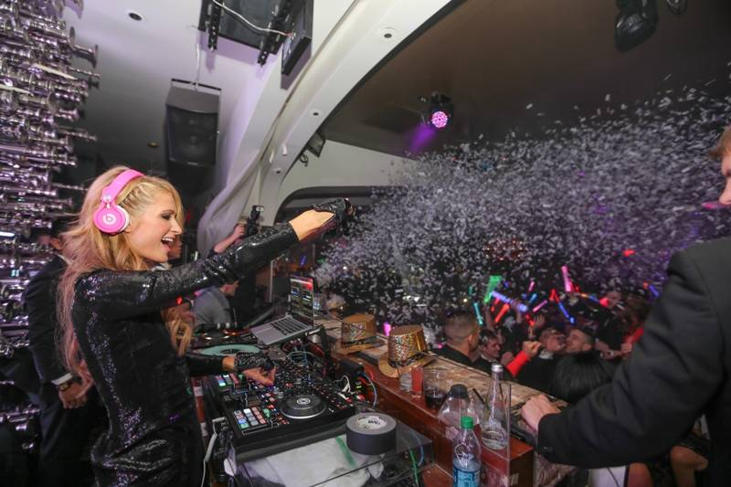 Paris Hilton DJ's and sings at Hyde Bellagio. (Courtesy)