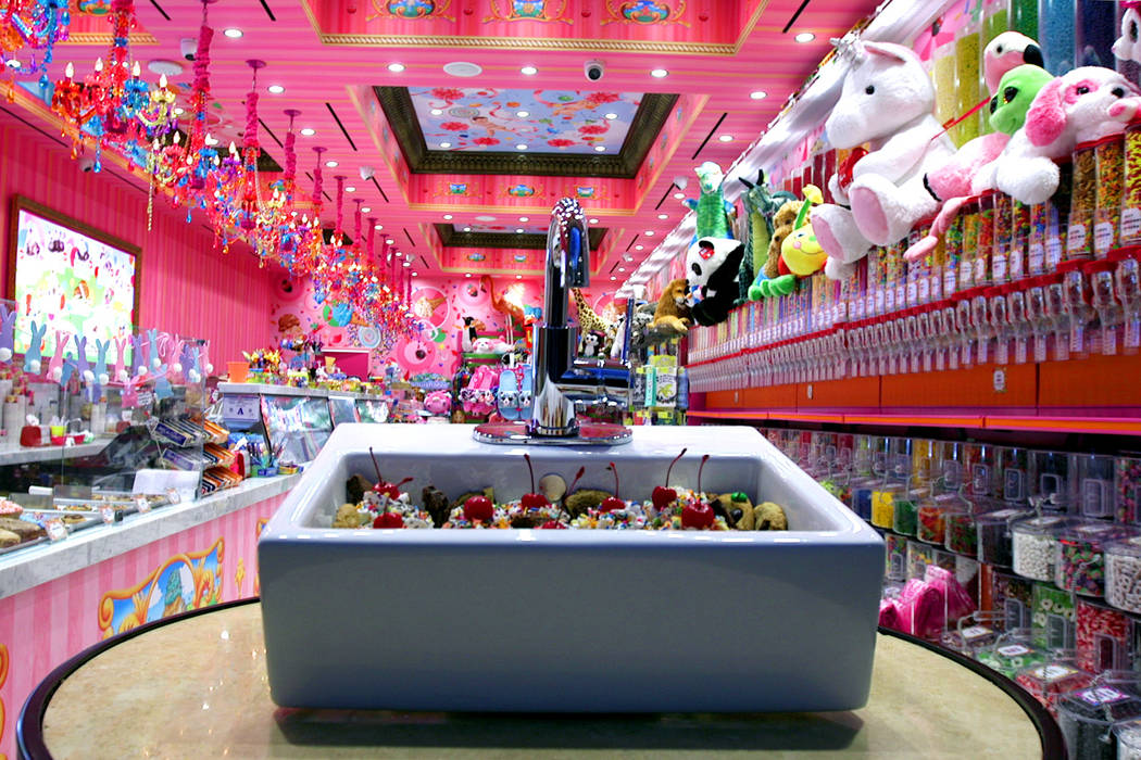 Sloan's ice cream, located inside the Venetian on the Las Vegas Strip, offers everything in the ...