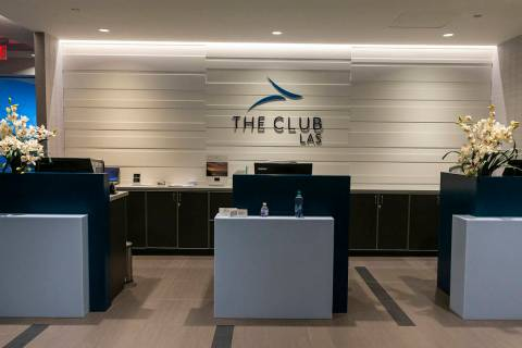 Concierge desk for the new 6,900 square foot The Club at LAS lounge in Terminal 3 at McCarran I ...