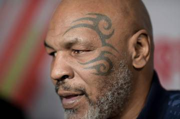 Mike Tyson attends the 2019 iHeartRadio Podcast Awards at the iHeartRadio Theater on Friday, Ja ...