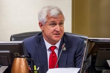 Councilman Steve Seroka voices his concerns about the Badlands golf course development at a Cit ...