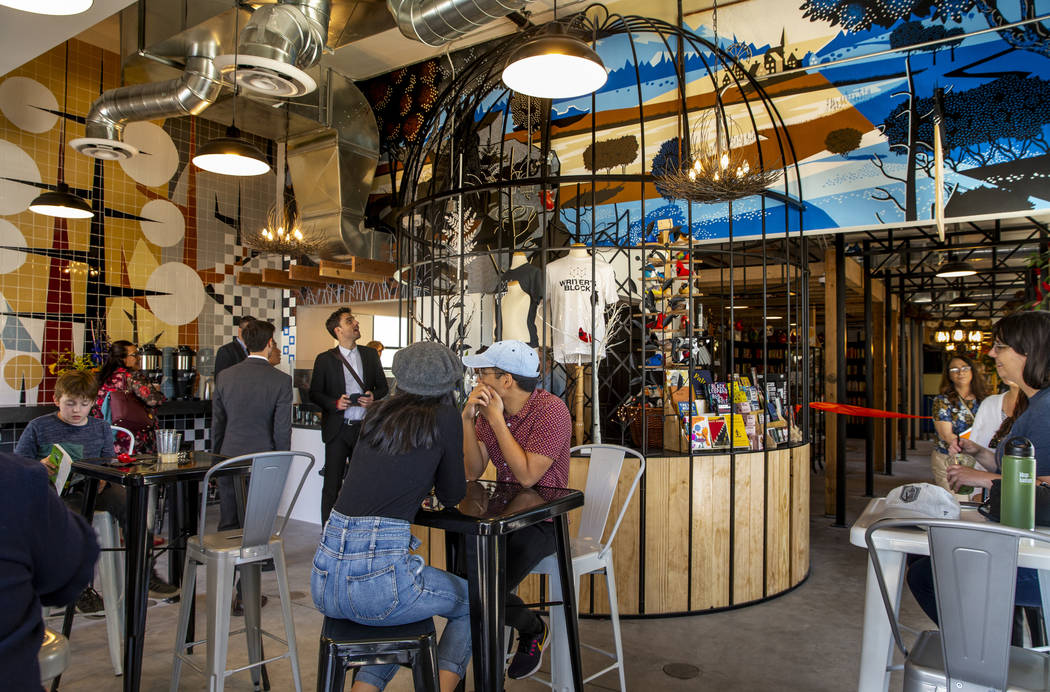 The new coffee shop begins serving during the launch of The Lucy and grand opening of the new i ...