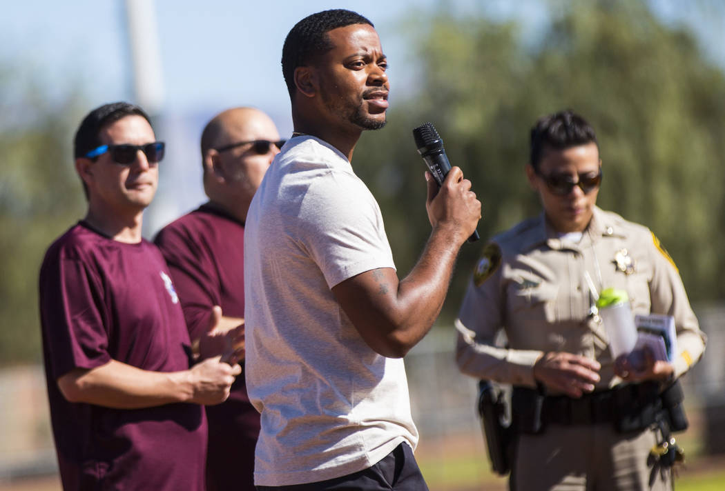 Assemblyman William McCurdy II speaks during the opening day celebration for the third season o ...