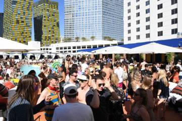 LAS VEGAS, NV - APRIL 13: A general view at the debut weekend of JEMAA - The NoMad Pool Party ...
