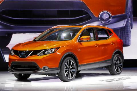 FILE - In this Jan. 9, 2017 file photo, the 2017 Nissan Rogue Sport is on display at the North ...