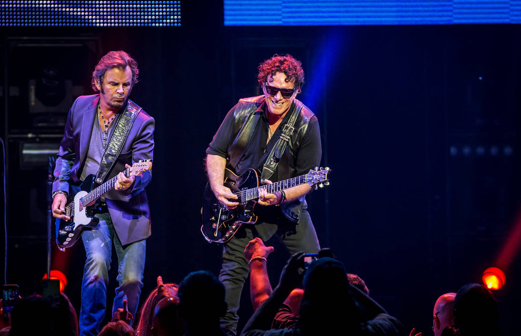 Jonathan Cain, left, and Neal Schon are Journey's veteran songwriting team. (Erik Kabik/Hard R ...