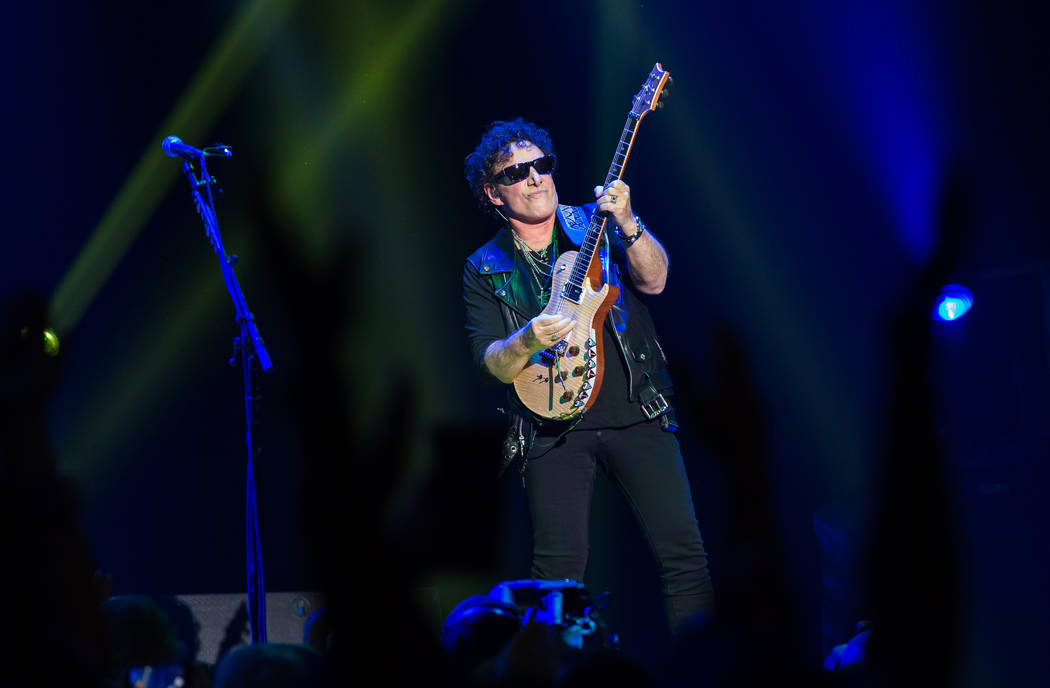 Neal Schon of Journey is shown during the band's opening night of its nine-show residency at Th ...