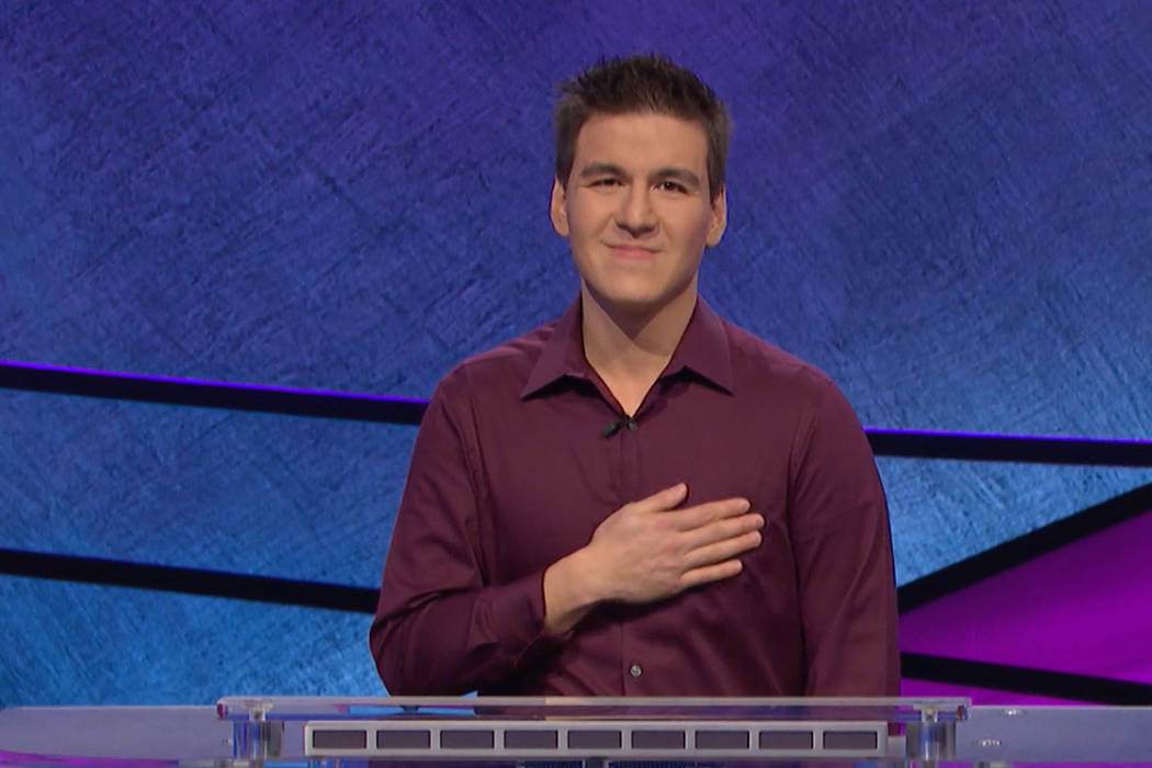 """Las Vegan James Holzhauer set the single-day record for """"Jeopardy!"""" winnings on Tuesday. (J ..."""
